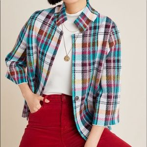 Rosetta Cropped Plaid Jacket